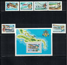 Br CW: Turks/Caicos Isles #347-353 NH Aviation Progress; Aviators-Lot#11/20