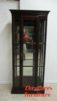 Ethan Allen Georgian Court Crystal Display Cabinet Shelf Hutch