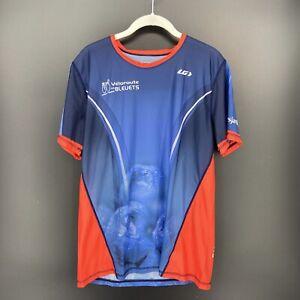 Louis Garneau sz L Veloroute Des Bleuets Cycling Biking Bike Jersey Tee T-Shirt