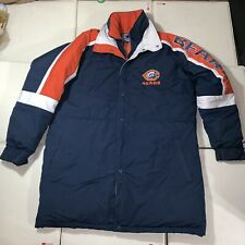 7169fe8171497c Rare Vintage Starter Chicago Bears TrenchCoat Parka Jacket L Large NFL Duck  Down