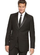 IZOD Black Satin 2-Button Trimmed Tuxedo Size 46L/42 NWT