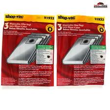(2) Shop Vac Filter Dry Bag 5 Gallon ~ New