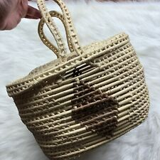 Woven Grass Basket Storage Bag Cover Container Decor