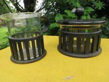 BODUM BISTRO  COFFEE GLASS - MILK JUG AND SUGAR BASIN .