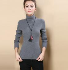 Women Cashmere Sweater Autumn Winter Knitted Turtleneck Pullover Wool  Warm New