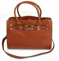 Michael Kors Hamilton Tan Brown Leather Tote Tech Bag Large Handbag RRP £350