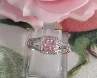 Vintage Jewellery White Rose Gold Ring Pink Sapphire Antique Art Deco Jewelry