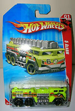 HOT WHEELS 2010 5 Alarm RACE WORLD Fire Engine Ladder Truck  1/87 Diecast R7610