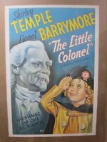 The Colonel Shirley Temple Barrymor 1970's reprint Vintage Poster movie inv#3768