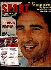 October 1966 Sport Magazine Sandy Koufax Autographed JSA Cert