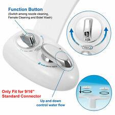 Fresh Water Spray Bidet Non-Electric 2 Nozzle Bidet Self-Cleaning Toilet Seat