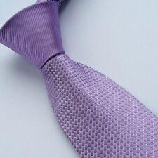 COACHELLA Ties Purple Stripe Knot Contrast Plaids Silver Spots Necktie Woven Tie