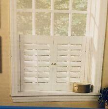 Plantation Shutter Set, Faux Wood, White, 31�W x 24�L, 054006650554