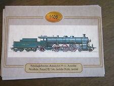 Chronik der Eisenbahn Faksimile Lokbilder 1908 Schnellzuglok Bay S 3/6 Maffei