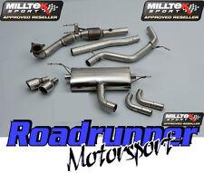 MILLTEK GOLF GTI MK6 Di Scarico Turbo Indietro Non Res Inc Cat & il tubo verticale 2 x 90 mm JET