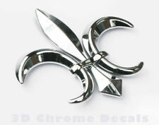 Fleur De Lis, car auto bike 3D chrome Emblem decal sticker Quebec France