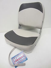 Wise New Fishing Boat Seat Chair Gray/Charcoal Composite Base/Bottom Fold Down