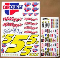 RC Nascar Car Quest Mark Martin 1/10th decals stickers