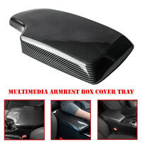 Carbon Fiber Interior ABS Center Console Armrest Box Cover Tray For BMW 3 Series