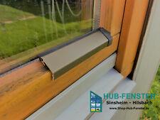 Flügelabdeckprofil Aluminium Wetterschenkel für Holzfenster Bronze