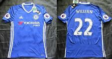 Willian #22 CHELSEA LONDON home shirt jersey ADIDAS Patch 2016-2017 men adult S