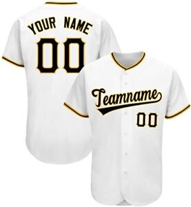 Baseball Jerseys Personalized Name&Number Special White S-3XL