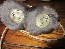 Vintage(1966) Eskimo Yo-Yos with faces on one end of each