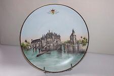 Faïence de Blois signée  Hardel à Blois, le Château de Chenonceaux  31.5 cm