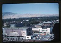 1950s  kodachrome Photo slide Reno Nevada #2 cars Flying A gas station