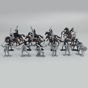 28pcs  /  set     Medieval     Knights     Horses     Model     Ancient