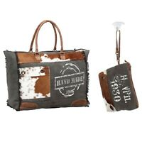 Myra Bag Tote and Make Up Pouch Bundle New NWT Weekender Travel Overnight