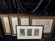 Original framed nautical engravings by T.Kitchin, M.Smith, etc Herveys Naval