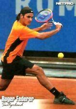 """Roger Federer 2003"""" 1ª Ever Estampado """"Netpro Tenis Carta Rookie #90 ! Leyenda"""
