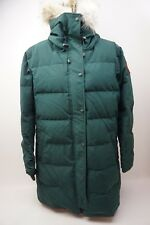Canada Goose Shelburne Coyote Fur Trim Down Parka Algonquin Green Size XL