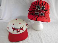 2 Vintage University of Nebraska Cornhuskers Baseball Cap Hat Snapback Starter