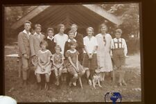 1Stück alte Glasplatten negative um 1910 Gesellschaft