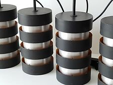 JO HAMMERBORG : LAMPE SUSPENSION LUSTRE FOG & MORUP 1960 VINTAGE DANISH LIGHT