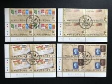 BiZStamps: Singapore Stamps- 1990, 150 Years of Postage Stamps B4 CTO