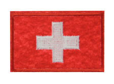 Swiss Switzerland National Flag Emblem Embroidered Patch Sew Iron Badge Applique