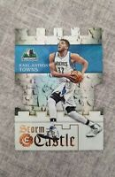 2016-17 Panini Excalibur Karl-Anthony Towns Storm the Castle #17 die cut Wolves
