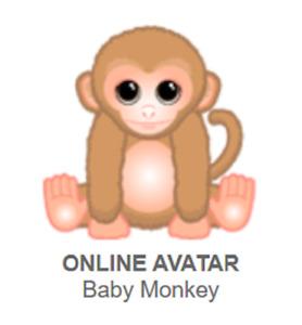 Webkinz Classic Baby Monkey *Code Only*