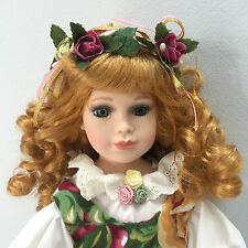 Royal Albert Old Country Roses Gril Rose Porcelain Doll 16""