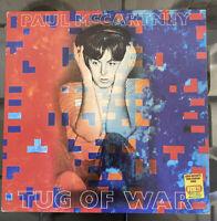 PAUL McCARTNEY - TUG OF WAR -Vinyl LP RECORD ALBUM -1982 - PCTC259