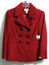 BEAUTIFUL RED & WARM WOMEN DOUBLE BREASTED  COAT
