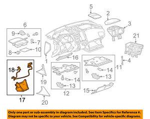 Chevrolet GM OEM 10-16 Equinox Instrument Panel Dash-Lower Extension 20922731
