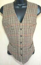 Ralph Lauren Blue Label Vest Women's 6 VTG Brown Plaid Wool Alpaca Equestrian