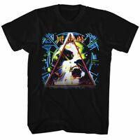 Def Leppard Mens Short Sleeve T-Shirt Black Hysteria 2 Crewneck Graphic Tee