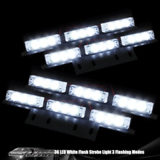 36 LED Car Truck White Emergency Hazard Flashing Warning Strobe Light Bar F