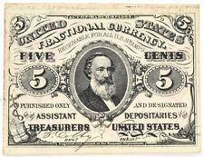 1863 5¢ Fifty Cent Fractional Currency FR 1238 Choice About Uncirculated