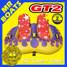 """SKI TUBE COMFORTABLE SIT-IN 2 Person + ROPE  GT2  Biscuit  X-Large 80"""" / 203cm"""